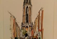 Domtoren vanuit Zadelstraat Utrecht